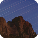 The Watchman in Zion National Park at night,                                Gianlorenzo