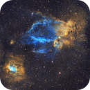 Lobster Claw & Bubble Nebula,                                Yovin Yahathugoda