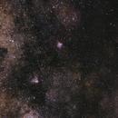 Eagle, Omega and the Sagittarius star cloud,                                stille