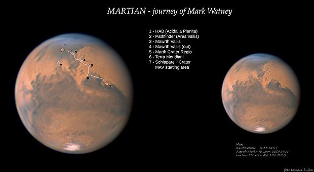 Martian - journey of Mark Watney,                                Łukasz Sujka