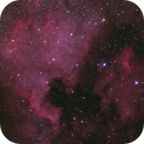 Emission Nebula NGC 7000 and IC 5070, Lynds' Dark Nebula Nos. 935 and 936, and Open Clusters NGC 6996 and Collinder 428,                                Dean Jacobsen