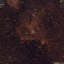 Sh2-190 (IC1805, Heart Nebula, 2015.11.03, 23x4min=1h32min, zielB2, decorated),                                Carpe Noctem Astronomical Observations