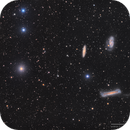 Leo Triplet and NGC3593 in LRGB,                                Kayron Mercieca