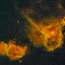 IC1805 IC1848 Heart and Soul Nebula, Narrowband, Askar FMA180 / ASI294MM Pro,                                tjm8874
