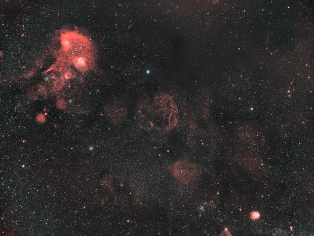 Sh2-240 - The Spaghetti Nebula (Widefield),                                lefty7283