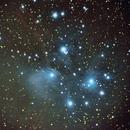 M45 Pleiades with SW Startravel 102,                                TOM@MISINSKI