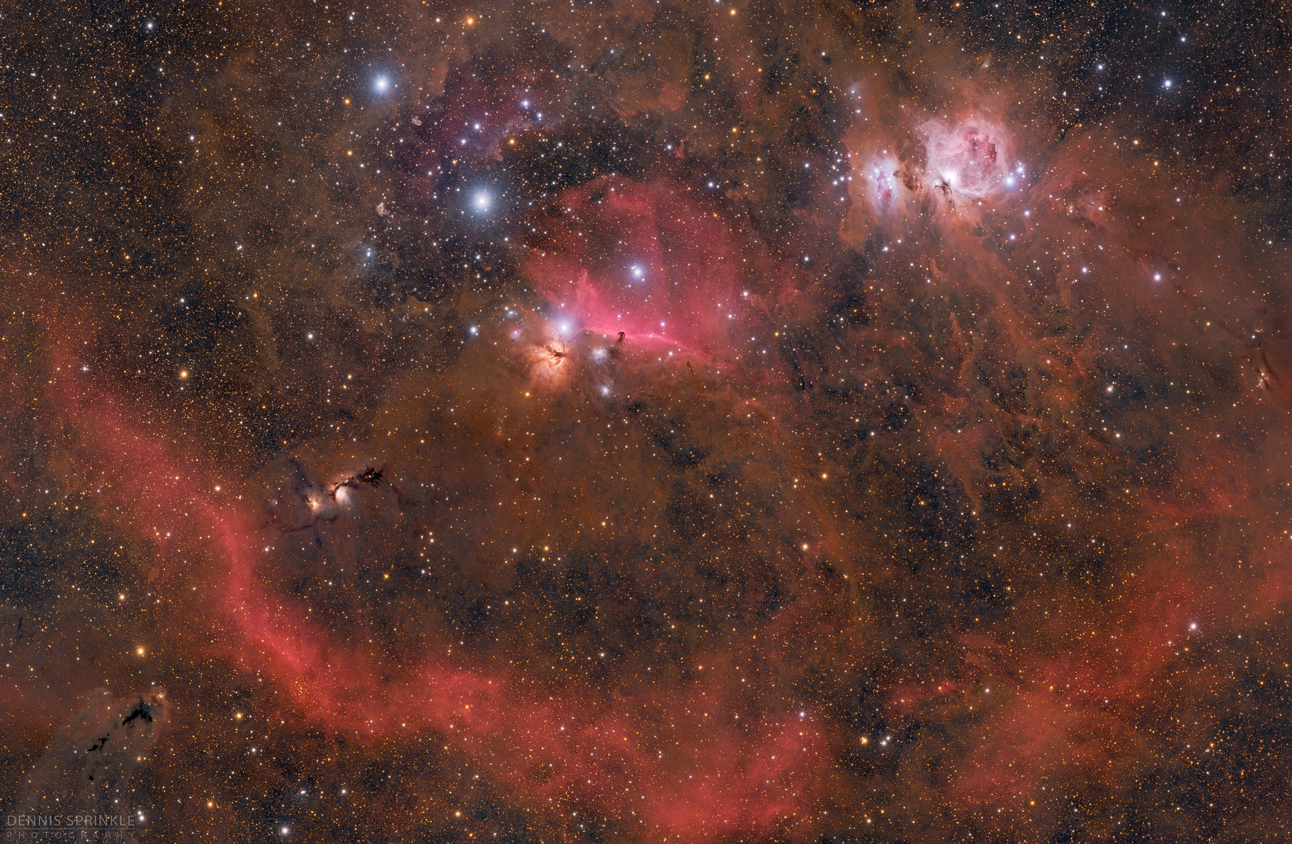 10 Panel Mosaic - Orion,                                Dennis Sprinkle