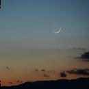 Crescent Moonset,                                luminous