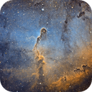 IC1396 Elephant Trunk in HST,                                marc