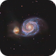 M 51 - short time exposure,                                Lars Stephan