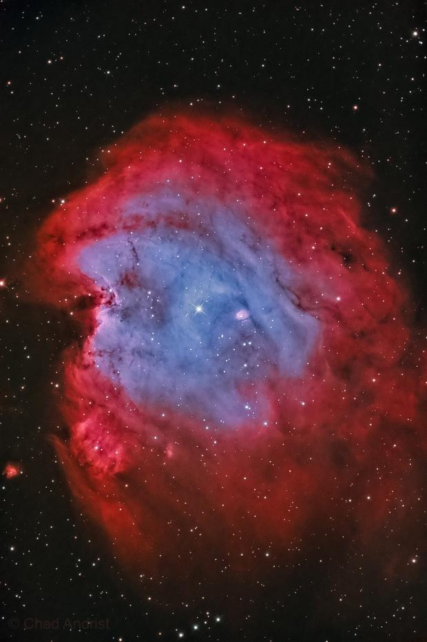 NGC 2174 Monkey Head nebula in HOO,                                Chad Andrist