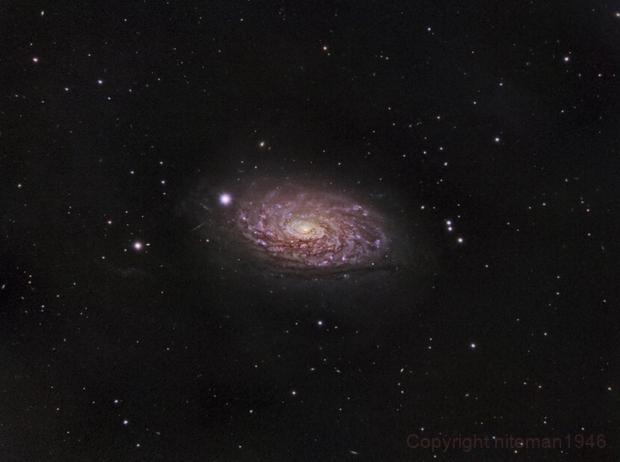 M63 Spiral Galaxy in Gold,                                niteman1946