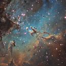 Pillars of Criation - Hubble Palette,                                Rogerio Alonso