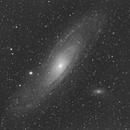 M31 Andromeda Galaxy,                                JACL-Mono-Hα