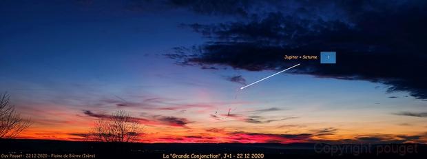 """La """"Grande Conjonction"""" - décembre 2020,                                Pouget"""