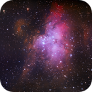 Eagle Nebula - 4 nights of acquisition ( 6 hours of good subs) :-),                                Daniel Nobre
