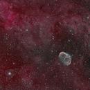 Crescent and surrounding nebulosity,                                Tim Hutchison