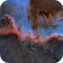 The Cygnus Wall in the Hubble Palette,                                Chuck's Astrophotography