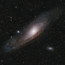 M31 Galaxia Andrómeda LPRO 4Panel Mosaic,                                Astroneck