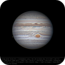 Jupiter and Europa 19 Apr 2018 15:20 UTC - North up,                                Seb Lukas
