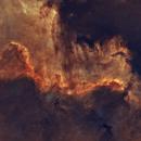 NGC 7000 The Great  Wall in Cygnus,                                Crash-dk