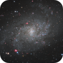 M33 core in HαLrgb (Triangulum Galaxy),                                Jose Carballada