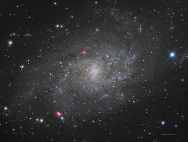 M33 core in HαLrgb (Triangulum Galaxy),                                Jose Carballada