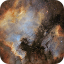 NGC 7000, North America and Pelican Nebulas (starless and RGB stars),                                Ruben Barbosa