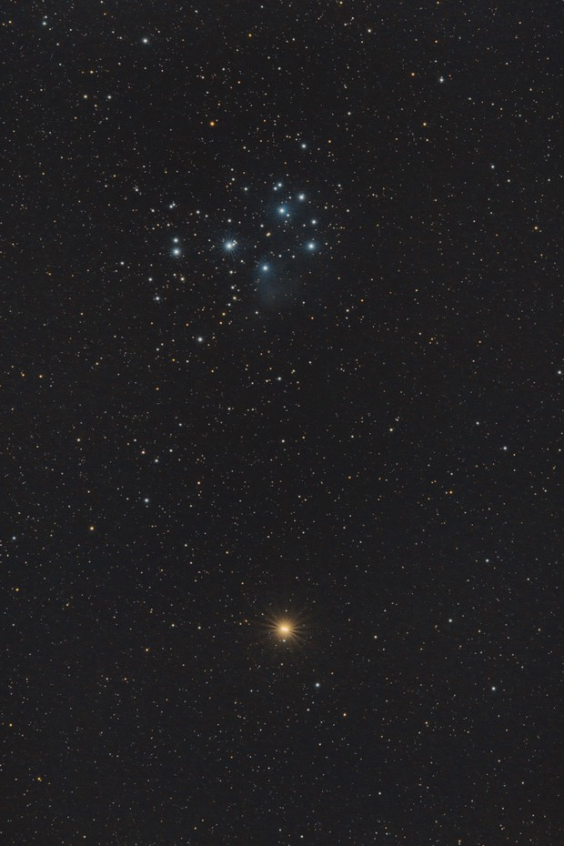 Mars and the Pleiades,                                Benny Colyn