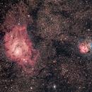 Lagoon and Trifid Nebulae,                                Chief