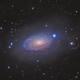M63 Sunflower galax with interstellar dust belts,                                bawind Lin