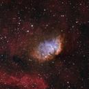 Sh2-101 - Tulip Nebula wider field in SHO/HSO/HOO combo with RGB stars,                                Uwe Deutermann