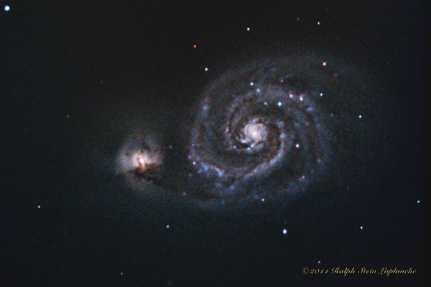 M51 The Whirlpool Galaxy - Cropped,                                NewLightObservatory
