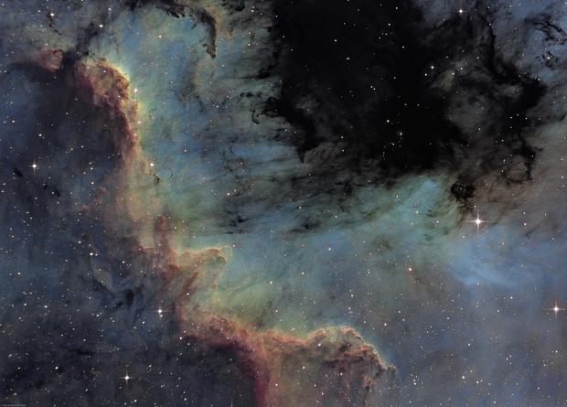 The great wall - North America Nebula,                                Olivier Ravayrol