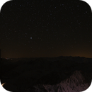 Dark skies ... and distant light pollution ... at the Pic du Midi,                                apricot