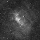 Bubble Nebula (NGC 7635) in Ha,                                JMDean
