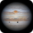 20200724 15:58.1 - Jupiter with Ganymede and its shadow in transit,                                astrolord
