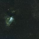 M17 Omega Nebula-SHO (Hubble palette)-Meade 80 ED triplet-Orion flattener-ASI 1600 MM-Pro,                                Adel Kildeev