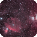 Orion's belt region – famous gas nebulas, dust clouds and a horse,                                firstLight