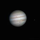 Ganymed-Durchgang vor dem Jupiter und Europa am 01.02.2012,                                Michael Schröder