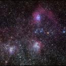 SH2-230 Region im Sternbild Fuhrmann (Auriga, Aur),                                firstLight