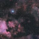 North America and Pelican Nebulas, Deneb, Sadr in Cygnus constellation,                                Cyril NOGER
