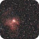 ngc1491 + sharpless 205 - almost 10 hours of unguided exposures - V2 crop and denoise,                                Stefano Ciapetti