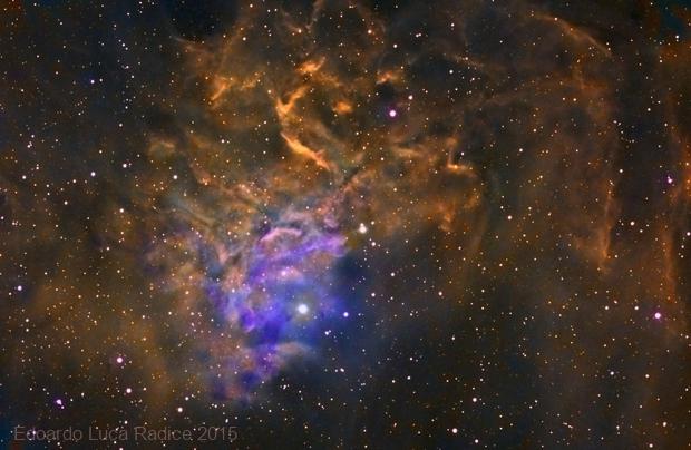 The Flaming Star Nebula in Hubble Palette,                                Edoardo Luca Radi...