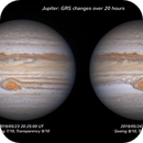 Jupiter: changes in GRS over 20 hours,                                Darren (DMach)