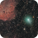 What a Mess... Comet C/2020 M3 ATLAS Enters a Field Rich In Stars (Nears IC410, and the Tadpoles NGC 1893),                                Dan Bartlett