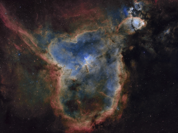 Sh2-190 / IC1805 - The Heart nebula in Cassiopeia - SHO,                                Daniel.P