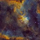 Heart Nebula & Melotte 15 in SHO,                                Tommy Lease