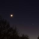 Jupiter & Saturn with the Crescent Moon,                                Kurt Zeppetello