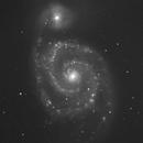M51 Whirlpool Galaxy-Ha-image by Liverpool Telescope,                                Adel Kildeev